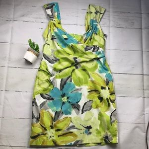 Liz Claiborne lime and blue floral dress spring!!